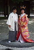 A traditional wedding in Meiji-shingu shrine