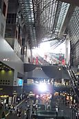 The fantastic building of the Kyoto station